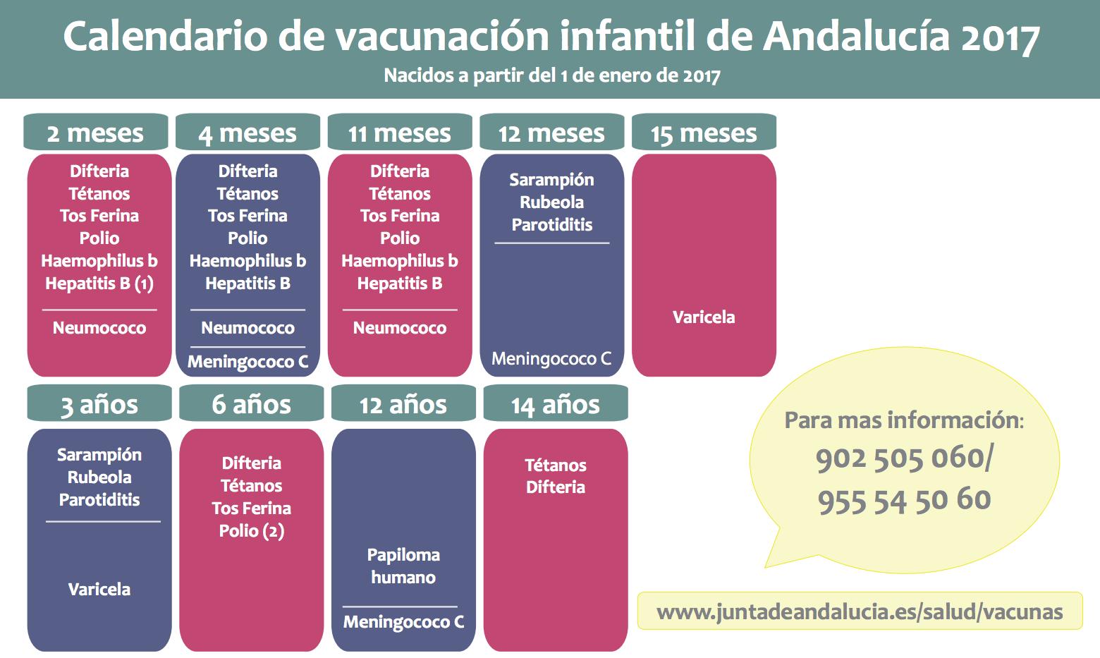 Calendario De Vacunas Infantil.Salud Publica El Nuevo Calendario Vacunal Infantil Medicina Gaditana